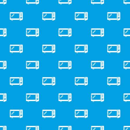 Microwave oven pattern vector seamless blue repeat for any use