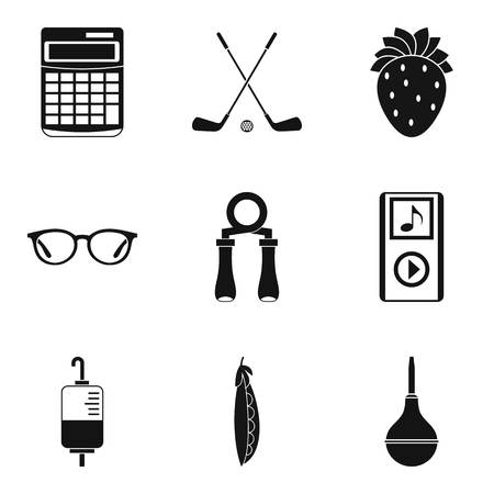 Medicinal course icons set. Simple set of 9 medicinal course vector icons for web isolated on white background Illustration