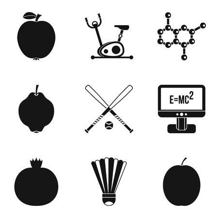 Personally icons set. Simple set of 9 personally vector icons for web isolated on white background Ilustração