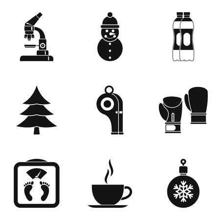 Wellness center icons set. Simple set of 9 wellness center vector icons for web isolated on white background