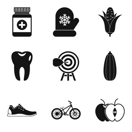 Wellness program icons set. Simple set of 9 wellness program vector icons for web isolated on white background