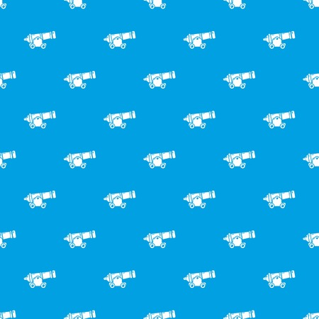 Shooting gun pattern vector seamless blue repeat for any use