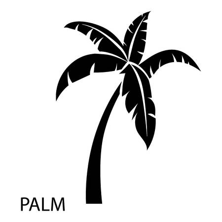 Palm tree icon. Simple illustration of palm tree vector icon for web Zdjęcie Seryjne - 100294650