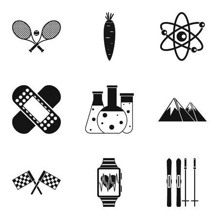 Medical nature icons set. Simple set of 9 medical nature vector icons for web isolated on white background