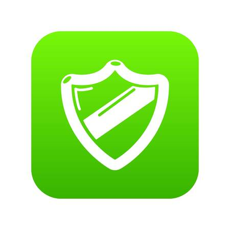 Antivirus installationicon green vector isolated on white background