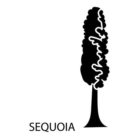 Sequoia icon. Simple illustration of sequoia vector icon for web Illustration