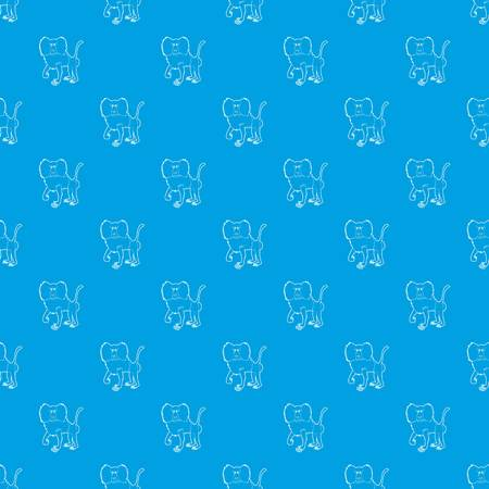 Baboon pattern vector seamless blue repeat for any use