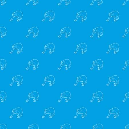 Bald wakari pattern vector seamless blue repeat for any use Illustration