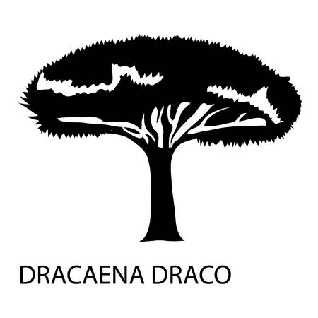 Dracaena draco icon. Simple illustration of dracaena draco vector icon for web