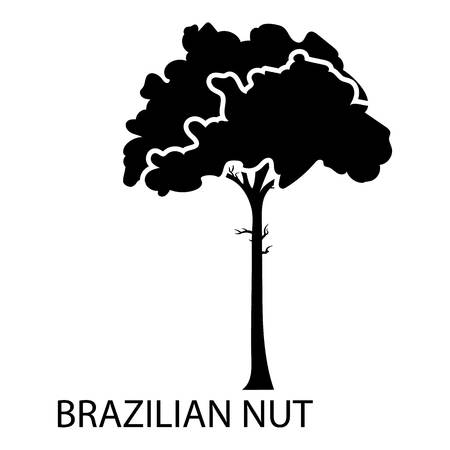 Brazilian nut icon. Simple illustration of brazilian nut vector icon for web