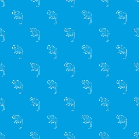 Small monkey pattern vector seamless blue repeat for any use Ilustrace