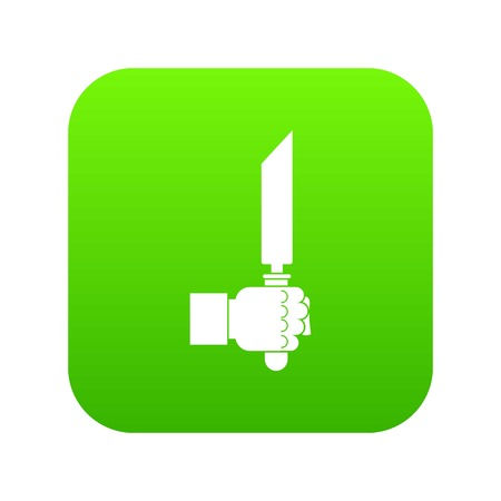 Pincer or plier in man hand icon digital green for any design isolated on white vector illustration