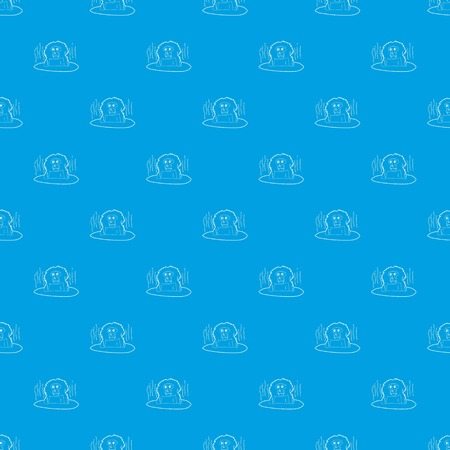 Monkey bathe pattern vector seamless blue repeat for any use