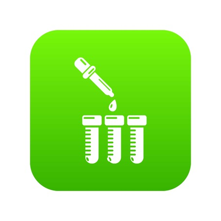 Refilling cartridgesicon green vector isolated on white background