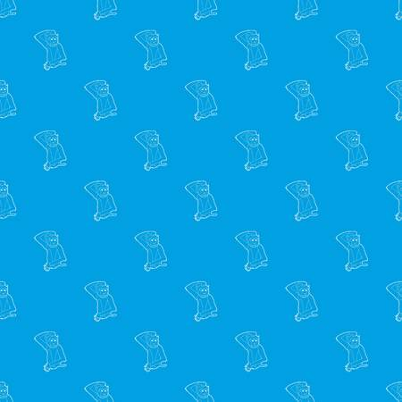 Brooding monkey pattern vector seamless blue repeat for any use