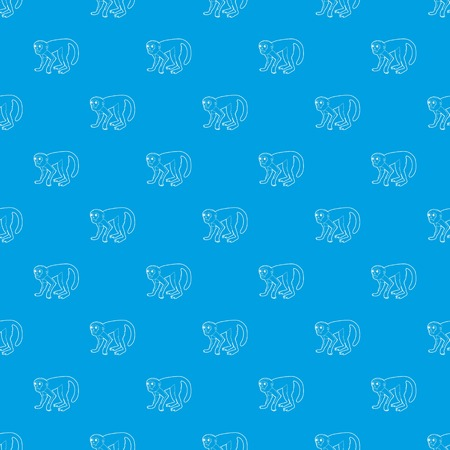 Capuchin pattern vector seamless blue repeat for any use