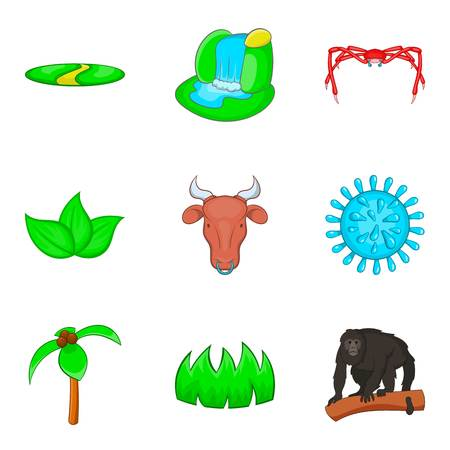 Prey icons set. Cartoon set of 9 prey vector icons for web isolated on white background