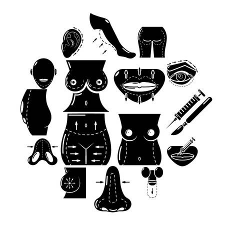 Body parts icons set. Simple illustration of 16 body parts vector icons for web
