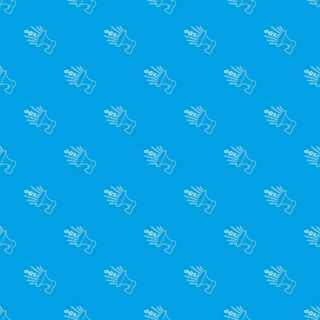 Loudspeaker pattern vector seamless blue repeat for any use Illustration