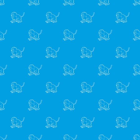 Gelada monkey pattern vector seamless blue repeat for any use Illustration