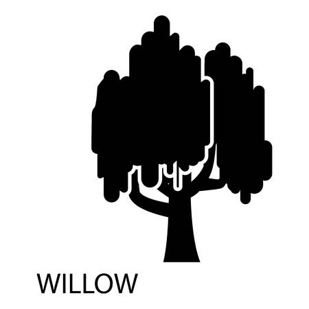Willow icon. Simple illustration of willow vector icon for web Standard-Bild - 100311039