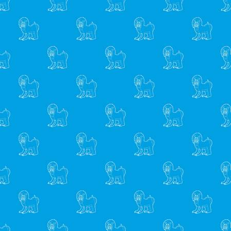 Mandrill pattern vector seamless blue repeat for any use