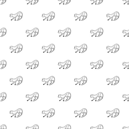 Going forward monkey pattern vector seamless repeating for any web design