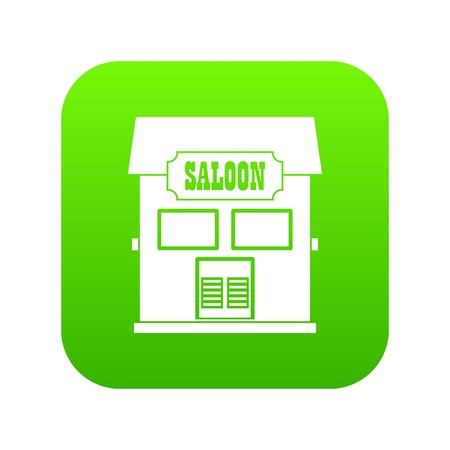 Western saloon icon digital green for any design isolated on white vector illustration