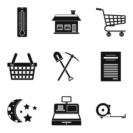Hut icons set. Simple set of 9 hut vector icons for web isolated on white background