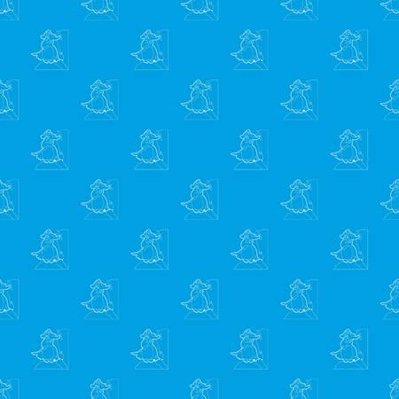 Pirate parrot pattern vector seamless blue repeat for any use.