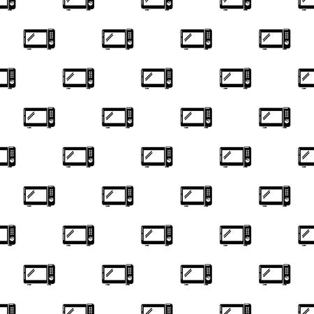 Microwave oven pattern vector seamless repeating for any web design