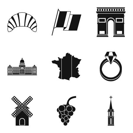 Booze icons set. Simple set of 9 booze vector icons for web isolated on white background