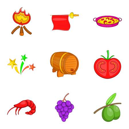 Viniculture icons set. Cartoon set of 9 viniculture vector icons for web isolated on white background Illustration