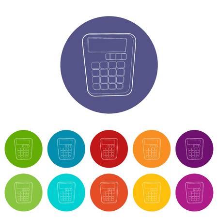 Calculator icon. Isometric 3d illustration of calculator vector icon for web Illustration