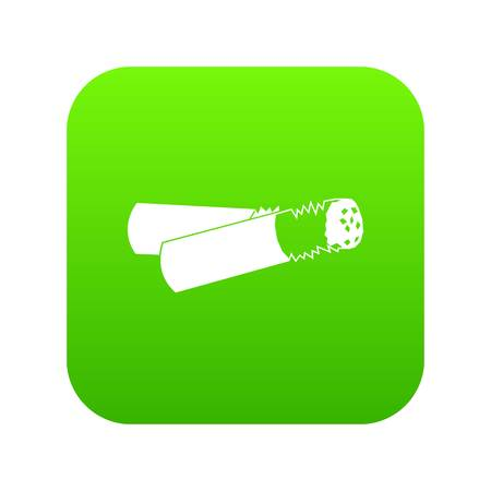 Cigarette butt icon digital green for any design isolated on white vector illustration