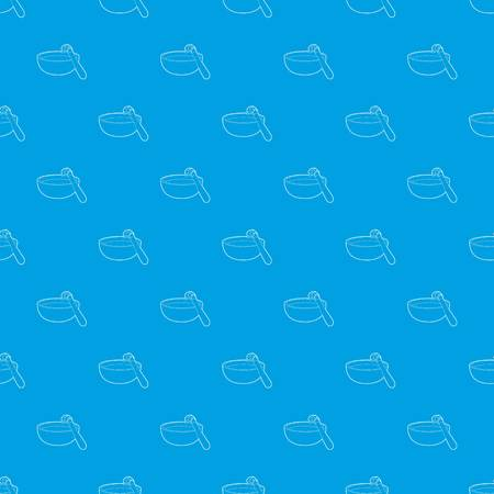 Barbecue brush pattern vector seamless blue repeat for any use