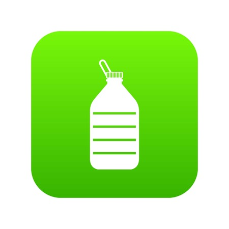 Large bottle of water icon digital green for any design isolated on white vector illustration