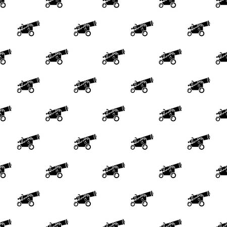 Menacing cannon pattern vector seamless repeating for any web design Illustration