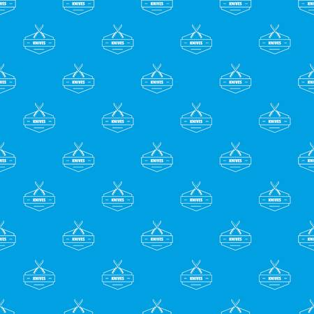 Knive pattern vector seamless blue repeat for any use Illustration