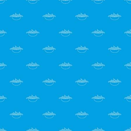 Barbecue pattern vector seamless blue repeat for any use