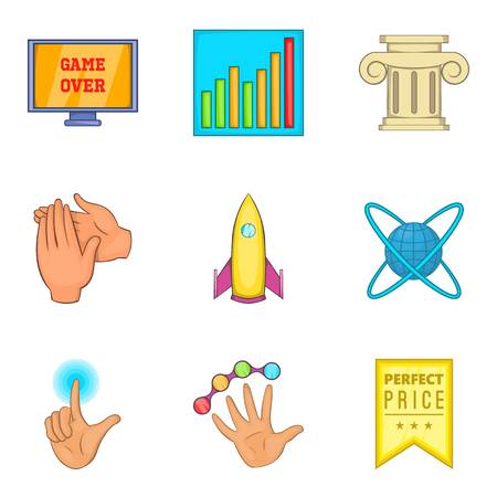 Honourable mention icons set. Cartoon set of 9 honourable mention vector icons for web isolated on white background