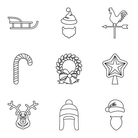 Chilblain icons set. Outline set of 9 chilblain vector icons for web isolated on white background