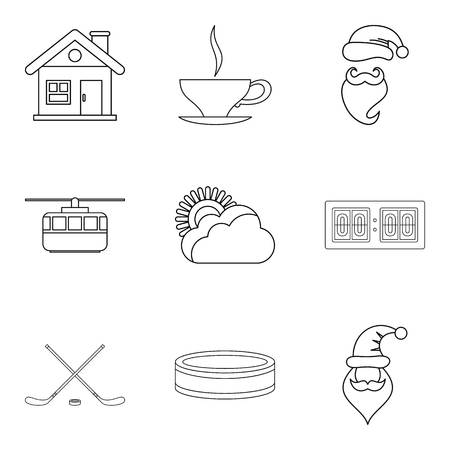 Injury icons set. Outline set of 9 injury vector icons for web isolated on white background