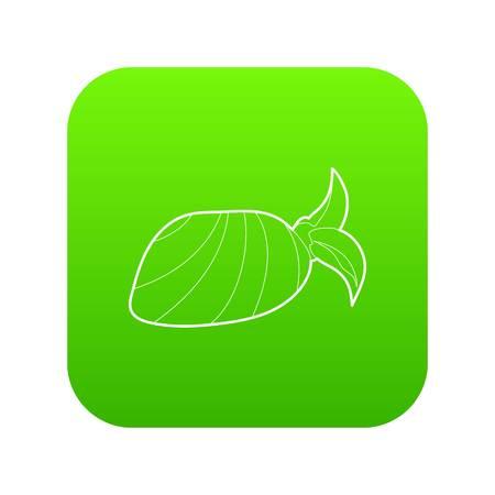 Bandana icon green vector isolated on white background Illustration