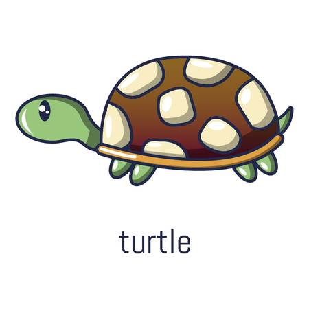 Turtle icon. Cartoon illustration of turtle vector icon for web