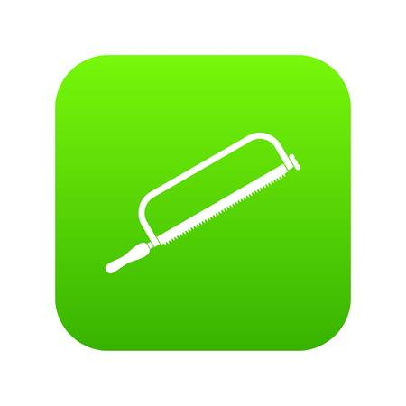 Hacksaw icon digital green for any design isolated on white vector illustration