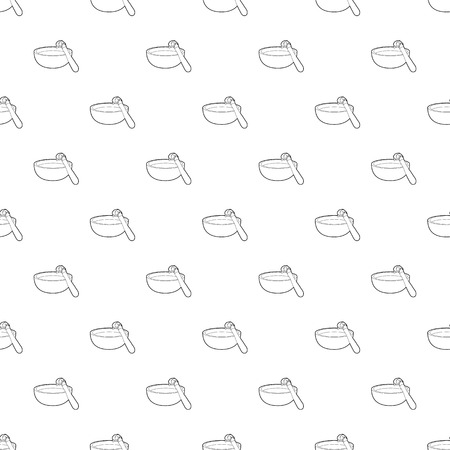 Barbecue brush pattern vector seamless repeating for any web design