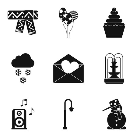Hard frost icons set. Simple set of 9 hard frost vector icons for web isolated on white background 일러스트