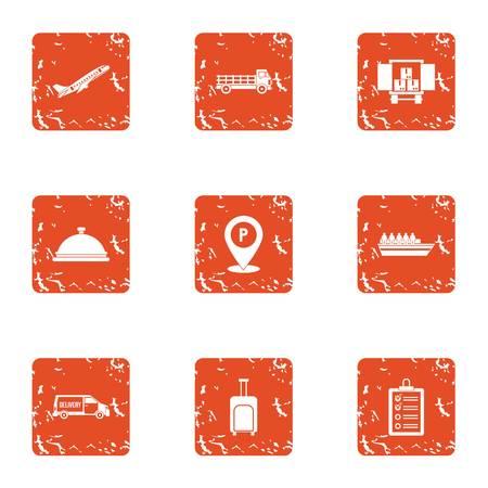 Smuggle icons set. Grunge set of smuggle vector icons for web isolated on white background