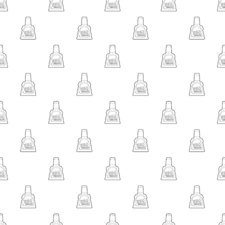 Barbecue sause pattern vector seamless repeating for any web design 向量圖像